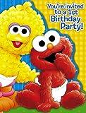 Sesame Street 1st Birthday Invitations (8 count)
