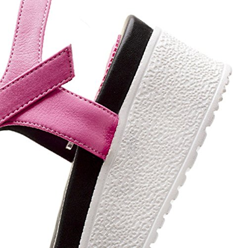 Laruise Women's Kitten Heels Flat Sandal Pink lH9IXE
