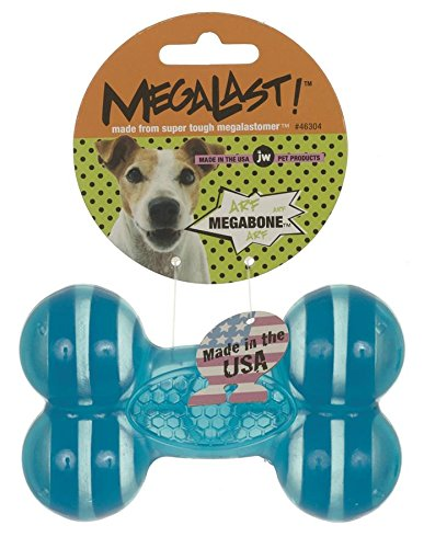 JW Pet Company MegaLast Bone Dog Toy, Large (Colors Vary)