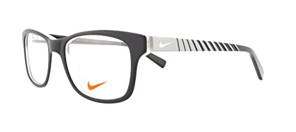 3e244a150c7b Image Unavailable. Image not available for. Color: Nike Eyeglasses 5509 018  Satin Black / Grey ...