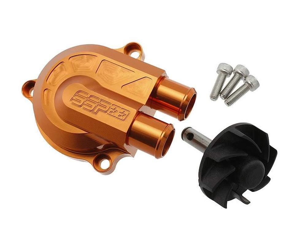 wasser Wasserpumpe STAGE6 SSP-CNC in schwarz matt f/ür YAMAHA Jog RR 50 LC Typ:SA22
