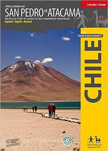 San Pedro de Atacama topographic travel map 1:350, 000: Trekking ...