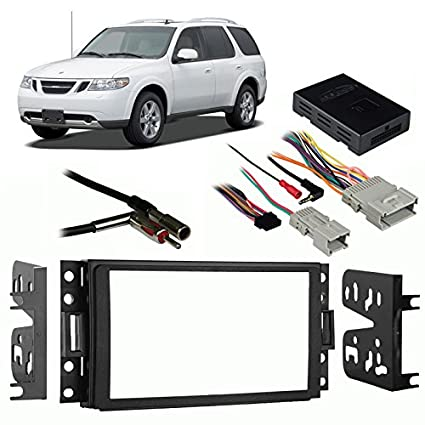 amazon com fits saab 9 7 x 2005 2009 double din aftermarket harness rh amazon com