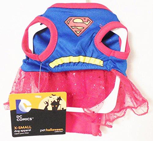 Marvel Comics Super Girl Superman XSmall Dog Costume (Supergirl Dog Costume)