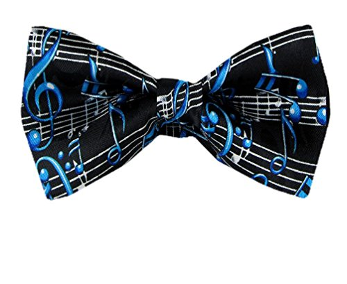 PBTN-186 - Musical Notes Pre-Tied Bow - Tie Music Sheet
