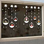 Dragon868 Natale Soggiorno Xmas Babbo Natale Pupazzo Di Neve Elk Muro Adesivi Finestra Decor (A)