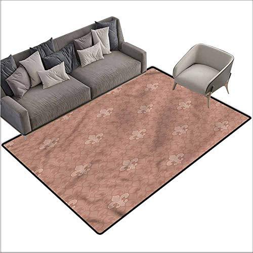 - Kitchen Mat for Living Room Fleur De Lis,Classical Floral Sign 80