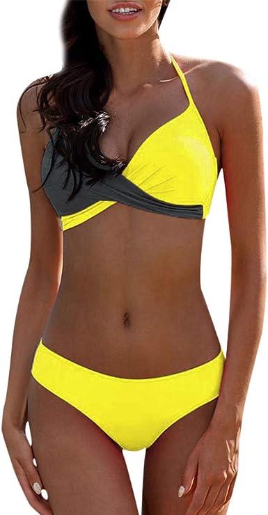 Femme Bandage Soutien-gorge push-up rembourré Ensemble bikini Maillots de bain maillot de bain maillot de bain