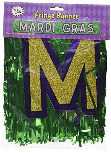 Beistle 54162 Metallic Mardi Gras Banner, 10-Inch by 6-Feet for $<!--$9.19-->