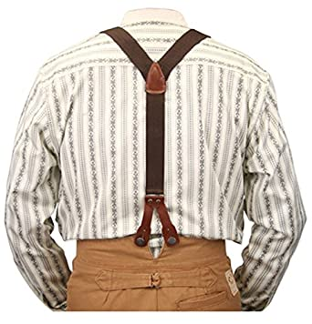 Men's Steampunk Clothing, Costumes, Fashion Stagecoach Y-Back Suspenders $27.95 AT vintagedancer.com
