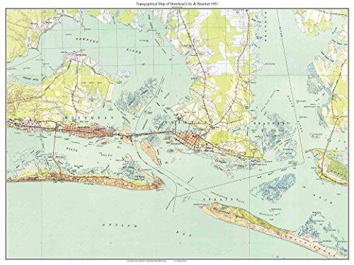 fort, NC - 1951 Old Topographic Map USGS Custom Composite Reprint North Carolina 7x7 ()