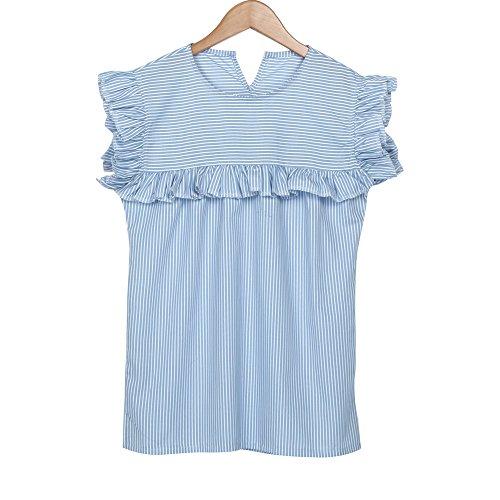 Vovotrade® Frauen OAusschnitt Striped Sleeveless Shirts Bluse Casual Top  Blusen