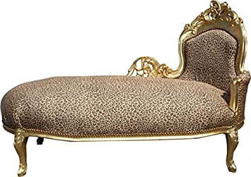 Casa Padrino Baroque Chaise Longue King Leopard Gold Mod2