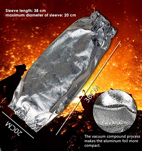 Aluminized Heat Resistant Welding Arm Sleeves Radiation Resistant Elastic Cuff Safety Work Protection Arm Guard by CPTDCL (Image #1)