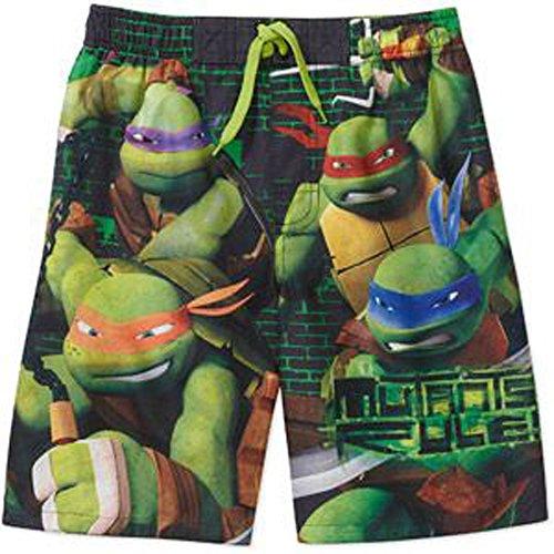 [Teenage Mutant Ninja Turtles Boys Swim Trunks (10/12, Green)] (Ninja Turtle Suits)