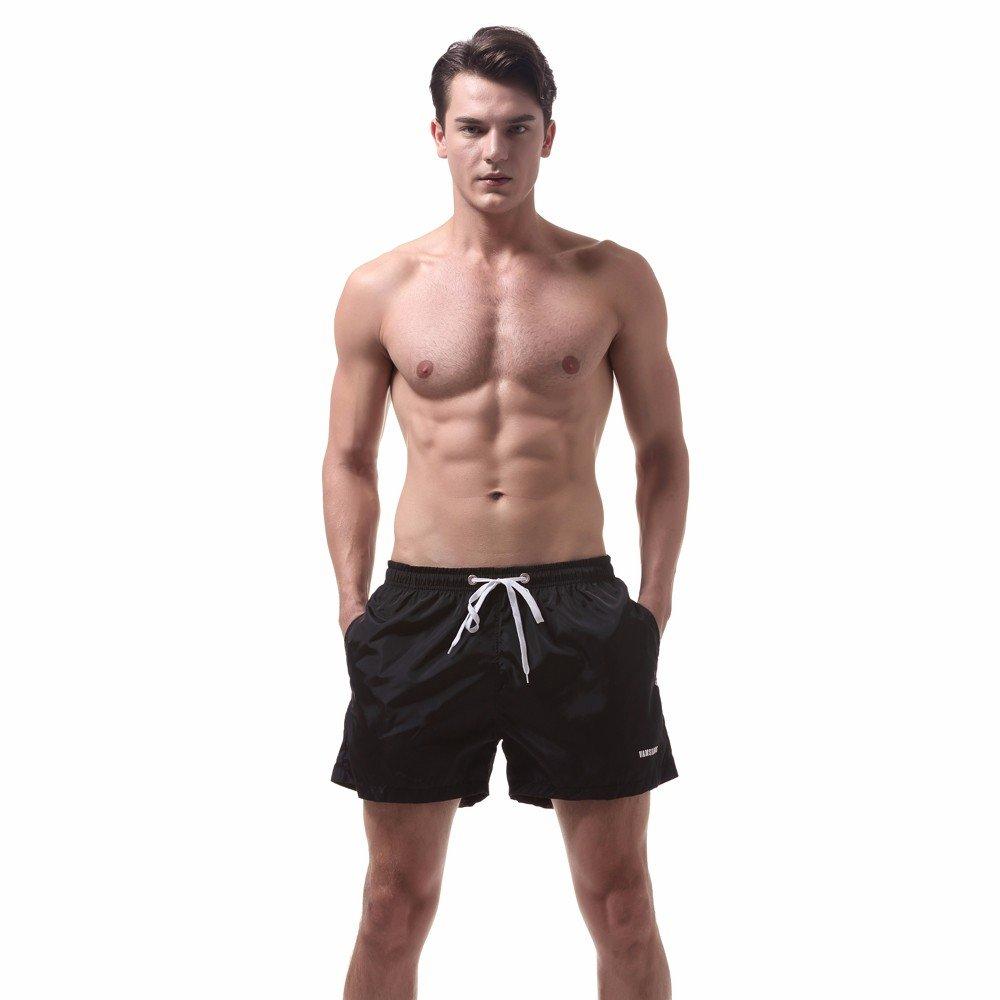 BBestseller Playa Bañadores de Natación Hombre, Pantalones Cintura Alta Aptitud de Verano Casual Pantalones Cortos Deportivos Pantalones Troncos Elásticos ...