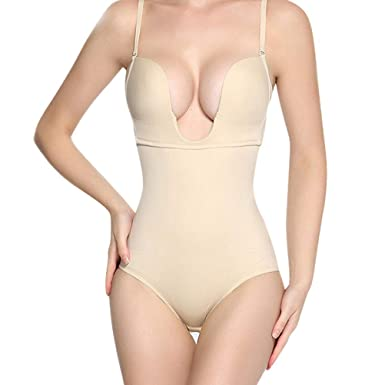 c8e75bd04 Image Unavailable. Image not available for. Color  Women Full Body Shaper  Underwear Bodysuit Body Suit Backless Shapewear