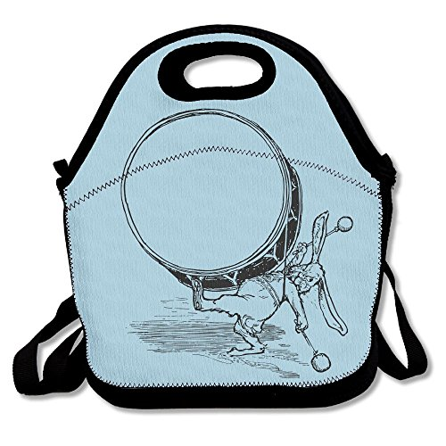 - SZYYMM Rabbit Drum Portable Shoulders Lunch Bag,Outdoor Office Travel Picnic Food Container Lunchboxes For Kids Adults