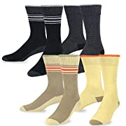 Amazon Lightning Deal 67% claimed: TeeHee Combed Cotton Men's Crew Socks Multi Pack