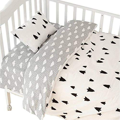 CC Shop Lovely Baby Toddler Infant Kids Cotton Crib Bedding Set (Tree & Cloud) ()