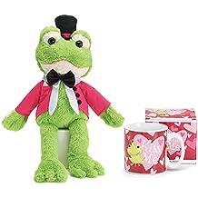 Friendly Frog Bundle of Ceramic Kiss Me Mug and Frog Plush with Kissing Sound