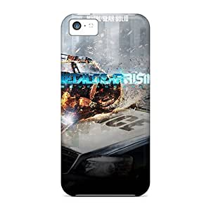 New Snap-on RareCases Skin Case Cover Compatible With Iphone 5c- Metal Gear Rising Revengeance