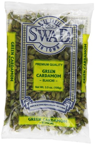 : Swad Cardamom Indian Grocery Spice, Pods Green, 3.5 Ounce
