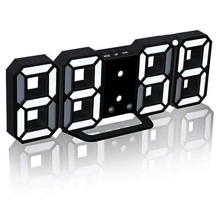 Despierta 3D LED Reloj Despertador Digital, Mesa De Escritorio ...