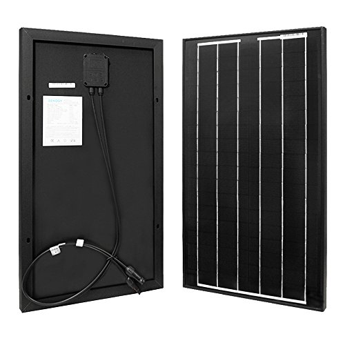 Renogy 30W 12V Monocrystalline Solar Panel High Efficiency Module Off Grid PV Power for Battery Charging, Boat, Caravan, RV and Any Other Off Grid Applications