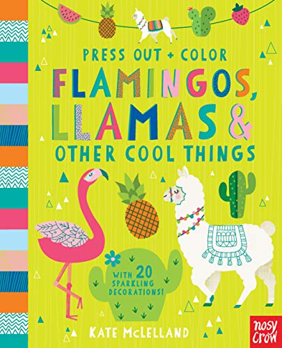 Press Out and Color: Flamingos, Llamas & Other Cool Things (Press Out + ()