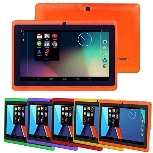 Hometom Tablet PC, 7'' Tablet Android 4.4 Quad Core HD 1080x720, Dual Camera Blue-Tooth Wi-Fi, 8GB 3D Game Supported (Orange) by Hometom (Image #3)