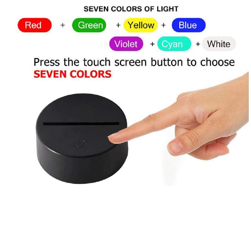 Bbdeng 3D-Nachtlicht Energie Sparen Sparen Sparen LED-Touch-Farbe Beleuchtung Kreative Kinder Schlafen Tischlampe USB Oder Batterie Ein Stück Conventional 31904d