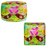 Foot Stools Poufs Chairs Round or Square from DiaNoche Designs by China Carnella - Love Birds