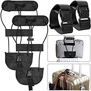 Travelquantum - Compare Cheap Flights, Hotels & Car Hire. 51ERPzUgPWL._SS300_ 4 Pcs Add A Luggage Belt and Straps, AFUNTA Adjustable Travel Suitcase Belt Attachment Accessories for Connect Bags…