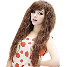 ATOZWIG Perruque Cheveux Naturel Synthetic Kinky Curly Long Women Hair Wigs For Women Heat Resistent Hair Cosplay Wig+Cap