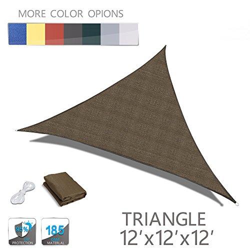 "LOVE STORY 9'10"" x 9'10"" x 9'10"" Triangle Brown UV Block Sun ..."