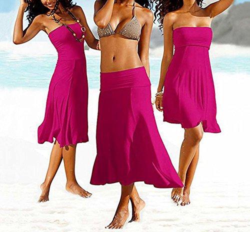 Puro Parei e Dalla Maniche Copricostumi Vestito Colore Senza Spiaggia Femminile Rose Donna Bikini qZIwaPC