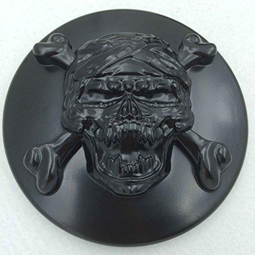 HTT Black Skull with Cross Bone Air Cleaner Intake Filter System Kit For Harley Davidson Sportster XL883 XL1200 1988 to (Skull Air Cleaner Kit)