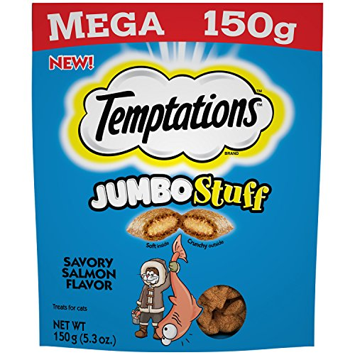 (Temptations MEGA Jumbo Stuff Savory Salmon Flavor (1-Bag) (NET WT 5.3 OZ))