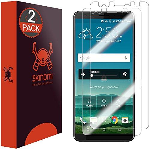HTC U12 Plus Screen Protector [2-Pack], Skinomi TechSkin Full Coverage Screen Protector for HTC U12 Plus Clear HD Anti-Bubble Film