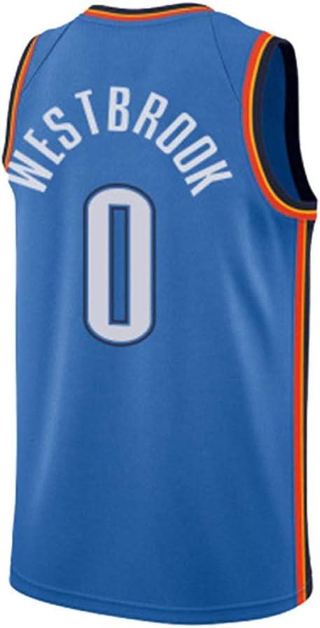 Jerseys del Baloncesto de la NBA Westbrook 0 de Thunder de ...