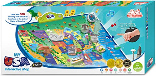 BEST LEARNING i-Poster My USA Interactive Map - Educational Talking Toy for Boys and Girls Ages 5 to 12 Years Old - Ideal Gift for Kids by BEST LEARNING (Image #6)