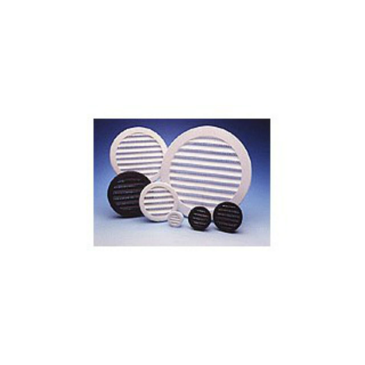 """Maurice Franklin Louver-3"""" Round White Polypropylene Plastic Louver with Insect Screen System (Priced Per Bag of 4). Item #3"""" PLW-100"""