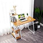 Computer Desk with Shelves,Writing Desk with Storage Shelves Study Table Office Desk Computer Workstation Home Office…