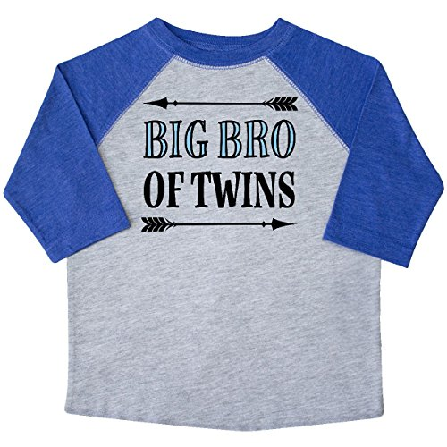 inktastic - Big Bro of Twins Brother Toddler T-Shirt 3T Heather and Royal - Twins Brothers