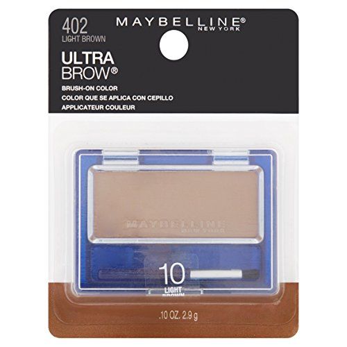 Maybelline New York Ultra-brow Brow Powder, 10 Light Brown, 0.1 Ounce, Pack of 2