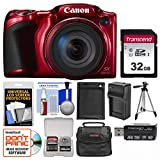 Cheap Canon PowerShot SX420 is Wi-Fi Digital Camera (Red) with 32GB Card + Case + Battery & Charger + Tripod + Kit