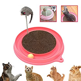 AUOON Cat Scratcher Toy, Cat Turbo Toy, Post Pad Interactive Training Exercise Mouse Play Toy with Turbo and Ball