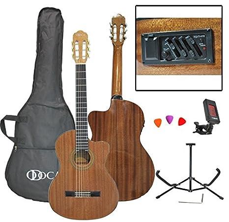 """odoca oca-10ce 39 """"clásica Cutaway Guitarra Eléctrica y Acústica del paquete"""