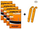 Continental 26x1.75-2.5 MTB 42mm Presta Valve Tubes (Pack of 4 w/ 2 Conti ...